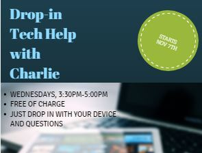 Drop in Tech Help with Charlie